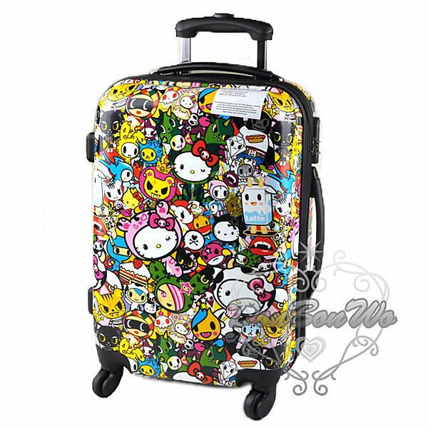 KITTY行李箱旅行箱聯名拉桿S加大密碼鎖多圖598792海渡