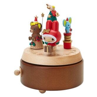 美樂蒂木製音樂盒聖誕樹小熊預約海渡