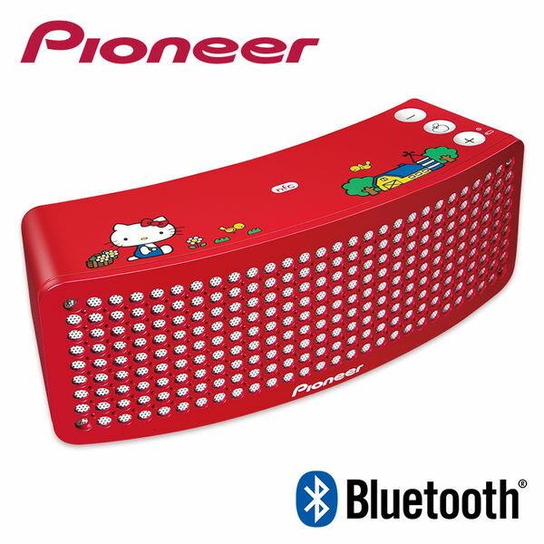 KITTY 40周年Pioneer音響藍牙喇叭無線撥放XW-BTSP1-KT代購海渡