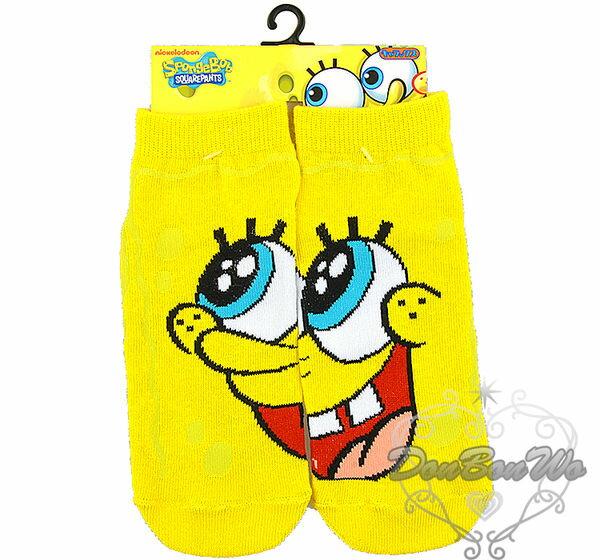 海綿寶寶大臉襪子短襪642791海渡
