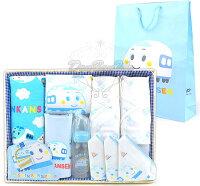 彌月禮盒推薦新幹線嬰兒用品竹籃彌月禮盒組毛巾手帕奶瓶圍兜內衣080266海渡