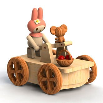 美樂蒂音樂盒木製車款夢想家代購海渡