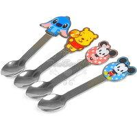 小熊維尼周邊商品推薦迪士尼米奇米妮史迪奇維尼熊不鏽鋼湯匙餐具260979海渡