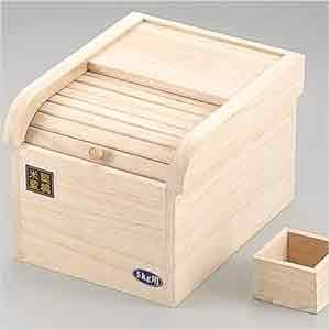 日本炭化桐木製米箱米桶保鮮5KG防米蟲026956代購