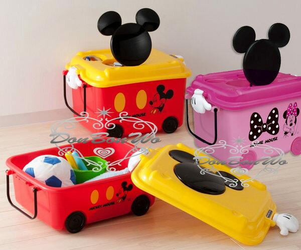 迪士尼米奇米妮玩具收納箱日本製小312430海渡