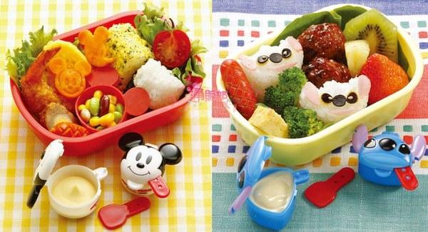 日本正版米奇史迪奇奶油盒果醬盒沙拉盒