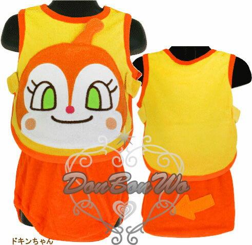 海渡-麵包超人角色扮演嬰幼兒圍兜褲子組-小病毒033081