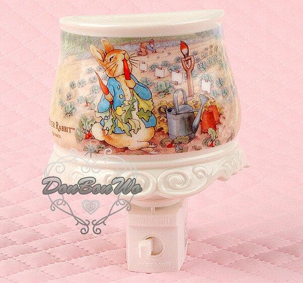 海渡-彼得兔吃胡蘿蔔紅蘿蔔薰香精油燈插電式小夜燈第2代039832
