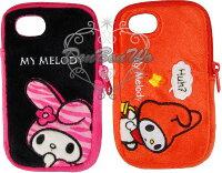 美樂蒂My Melody周邊商品推薦到海渡-美樂蒂絨毛拉鍊iphone 4保護殼保護套022615/022608