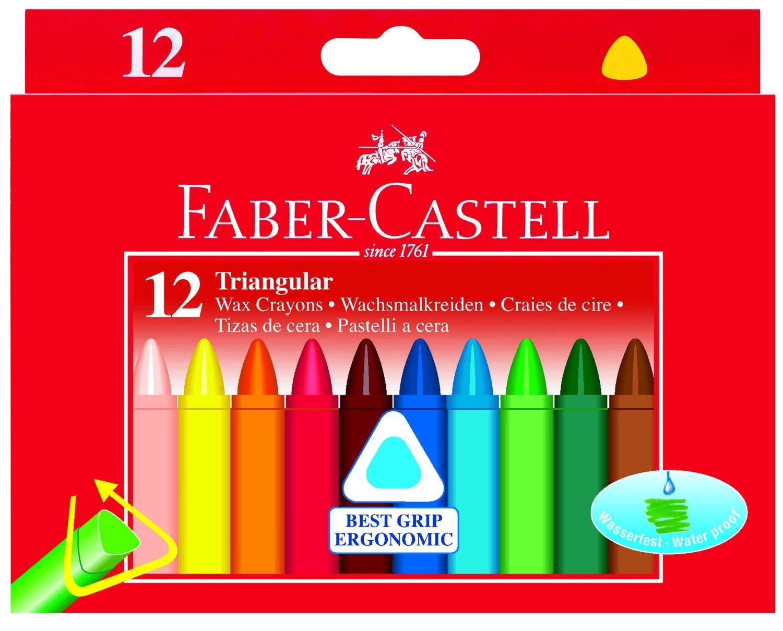 Faber~Castell 輝柏 大三角粗芯蠟筆12色  120010