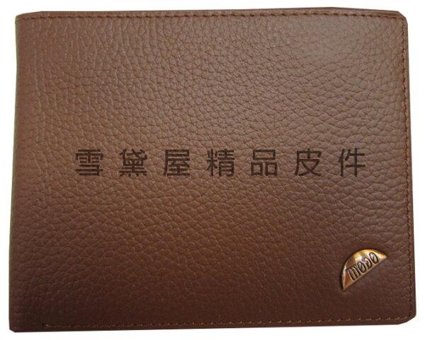 ~雪黛屋~MoDo短夾專櫃男仕短型皮夾100%進口牛皮革材質加長尺寸固定型證件夾BMD029340