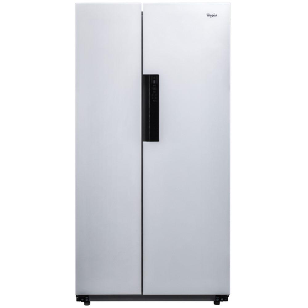 全館回饋10%樂天點數★【惠而浦】600L白色水晶玻璃對開門變頻冰箱 WHS600LW