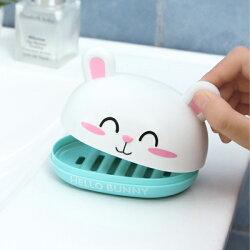 PS Mall 卡通兔子香皂盒創意肥皂盒【J1186】