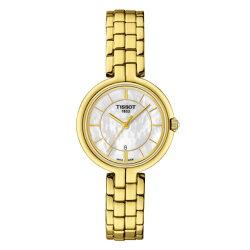 TISSOT天梭表 T0942103311100 FLAMINGO時尚女仕時尚腕錶/珍珠母貝面26mm