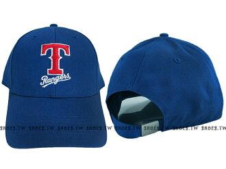 Shoestw【5232001-550】MLB 棒球帽 調整帽 老帽 遊騎兵隊 寶藍 凸繡