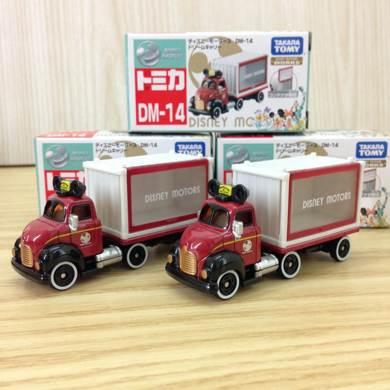 【真愛日本】15121000001 TOMY小車-米奇貨櫃車 迪士尼 米老鼠米奇 米妮 小車 模型車 擺飾 收藏