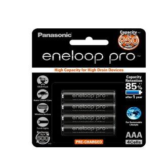 可傑 Panasonic 國際 eneloop PRO 低自放電充電電池AAA 4號 4顆裝