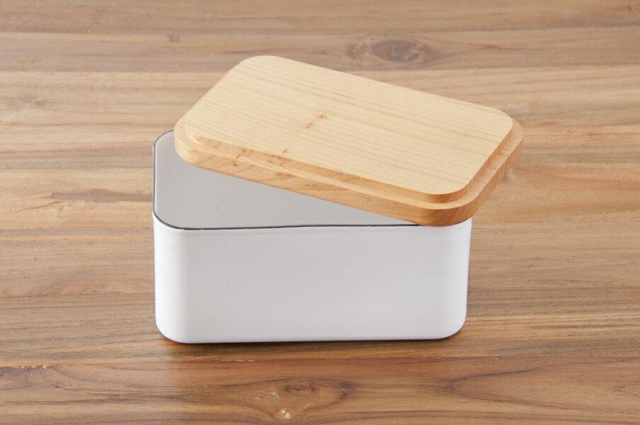 日本【野田琺瑯】深型奶油保存盒450g 0.76L J-01-NKH-602