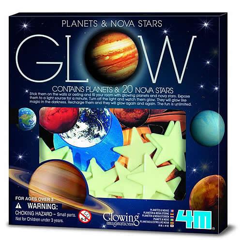 ~4M  DIY ~Glow Planets   Nova Star in Box 螢光太