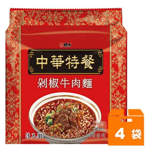 維力 中華特餐 剁椒牛肉麵 135g (4袋)/箱