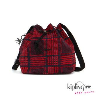 【結帳輸入fashion0511-2折100】Kipling水桶包 葡萄酒紫紅素面 K1428733N