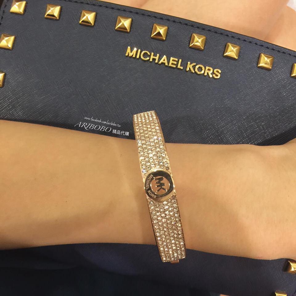 【MICHAEL KORS】MK 正品 Bracelet 手環 \ 玫瑰金【全店滿4500領券最高現折588】 2