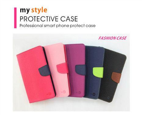 【MyStyle】SamsungGalaxyJ8側掀撞色皮套書本式皮套側翻保護套手機套保護套