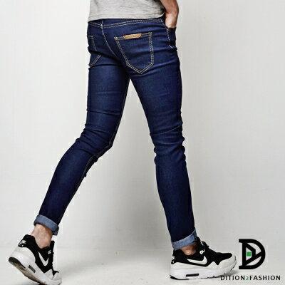 DITION 韓系丹寧SKINNY原色牛仔長褲 復古極窄版 2