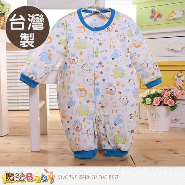 包屁衣 台灣製寶寶長袖連身衣 魔法Baby~k60336