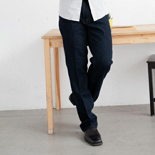 【魔法施】NUTUN★長腿族首選★超強訂製版【29~40腰 x 49吋長】 彈力深藍牛仔超長褲