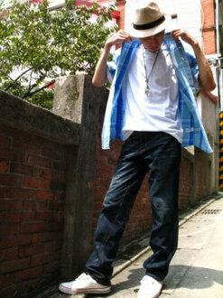 【魔法施】立體剪裁時尚個性休閒牛仔褲