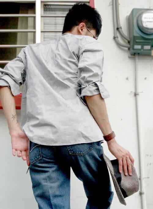 【魔法施】AYBORTEH氣質灰經典設計長襯衫