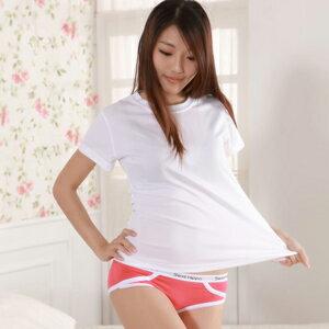 【魔法施】Sexii Hippo【魔力紅】白線條混搭性感中腰彈力貼身內褲(女8230三角褲)