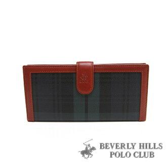 【魔法施】B.H POLO 綠格 ★二折扣式女長夾 BH-2060 ★ 超值免運