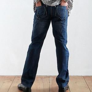 【魔法施】英氣勃發汪洋浪濤俊挺抓皺中低腰牛仔褲p 0