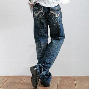 【魔法施】NUTUN精巧拼貼打造帥氣最炫多層刷色中高腰牛仔褲