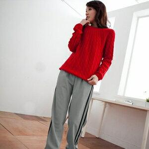 【魔法施】ENGERHWA透氣雙流線條紋設計運動休閒長褲★時尚灰6946