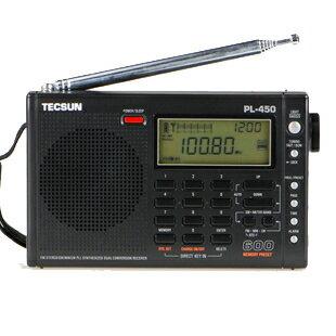 德生收音機PL-450便攜式多波段數字解調立體聲收音機