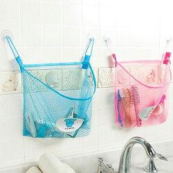 ♚MY COLOR♚鏤空吸盤式網袋 透氣 防潮 浴室 兒童 玩具 收納 瀝乾 洗漱 瀝水 廚房【J33-8】