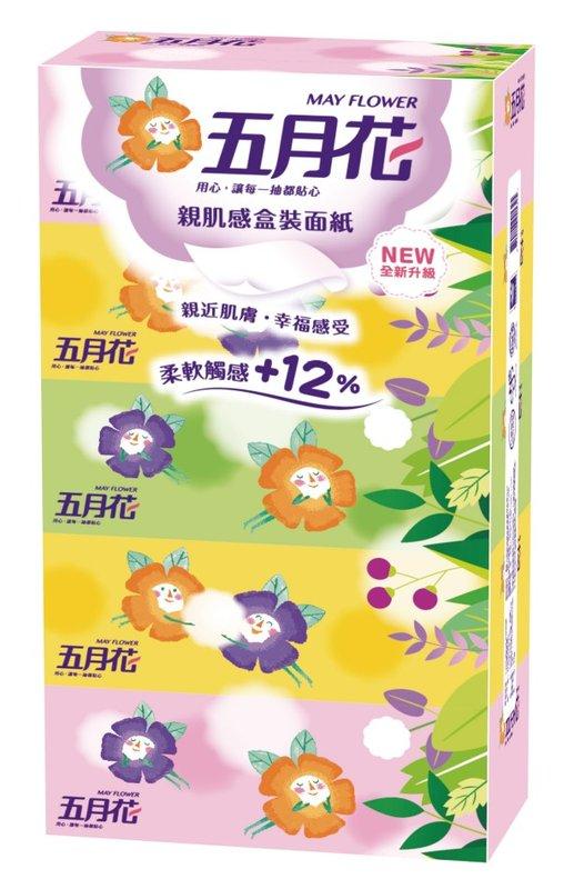 【GoodFamily】『組合』五月花親肌感盒裝面紙(160抽/5盒)+舒潔通用紙巾(60張/6捲)
