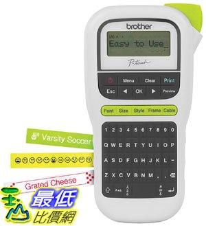 [7美國直購] 標籤機 Brother P-touch, PTH110, Easy Portable Label Maker, Lightweight, QWERTY Keyboard One-Touch