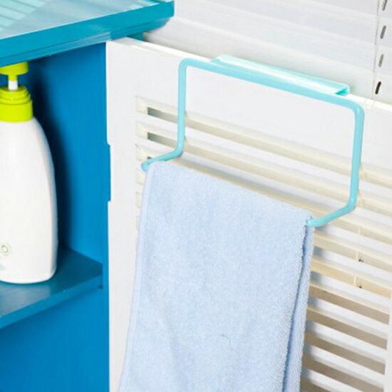 ♚MYCOLOR♚櫥櫃門背式毛巾架置物架塑料創意廚房門背單桿掛抹布掛架多用途雜物耐用【N397】