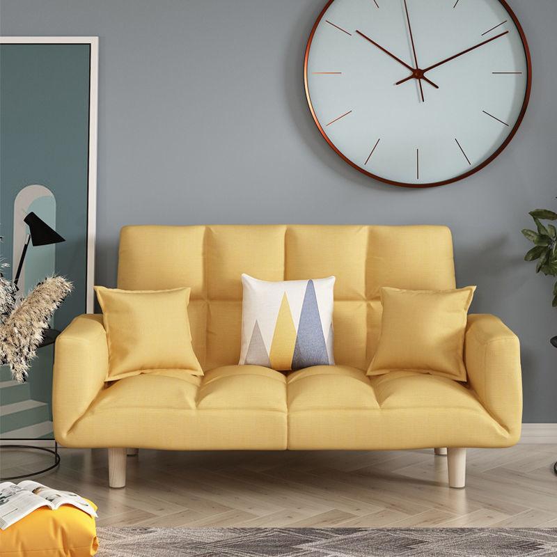 布藝雙人懶人沙發椅小戶型折疊沙發床兩用陽臺臥室客廳簡易榻榻米