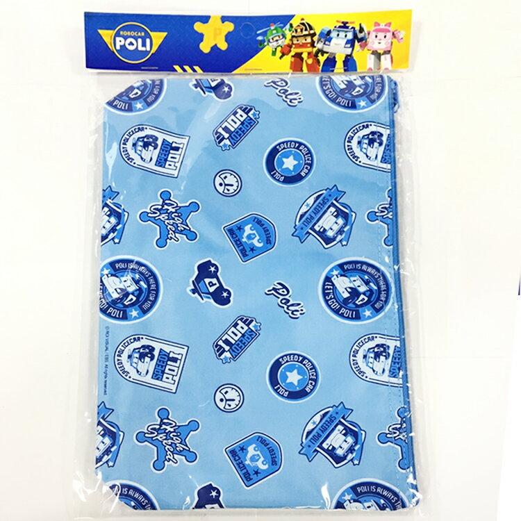 韓國製 POLI 波力 餐盤 餐具收納盒袋 兒童餐具組 環保餐具 攜帶方便 藍色 韓國進口正版 702238