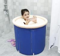 在家泡湯推薦到可折疊洗澡桶浴桶家用成人充氣浴缸沐浴盆大人泡澡桶神器洗浴桶就在名創優選推薦在家泡湯