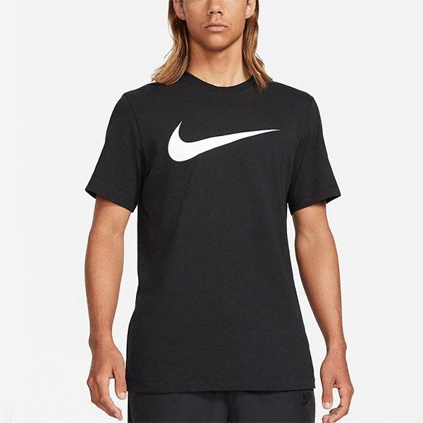 【滿額領券折$150】NIKE Sportswear Swoosh 短袖 短T 棉質 休閒 大LOGO 黑色 男生【DC5095-010】