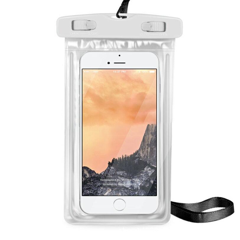 PS Mall 夜光款手機 螢光防水袋 觸摸透明PVC潛水套【J312】 4
