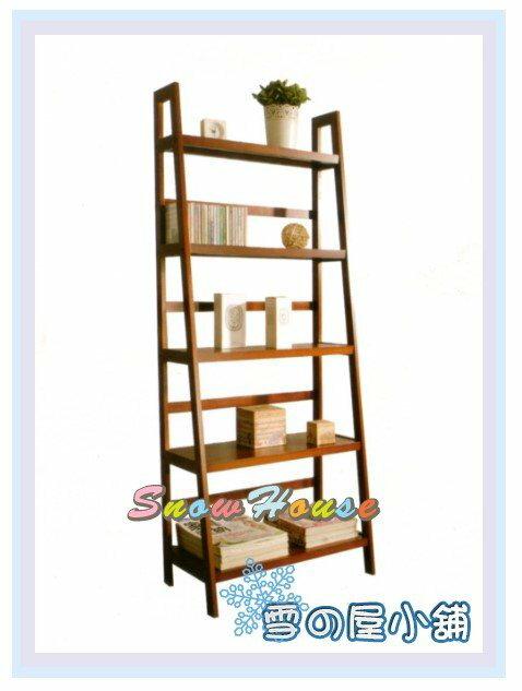 ╭☆雪之屋居家生活館☆╯R560-08 實木五層梯型書架(DIY自組)/置物架/收納架/展示架/CD架/萬用架/組合架