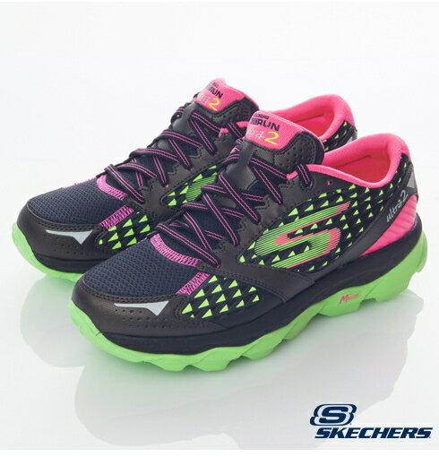[陽光樂活]零碼 SKECHERS 女款 跑步 GO RUN ULTRA 2 -- 13918BKLM 22.5 (特價出清)