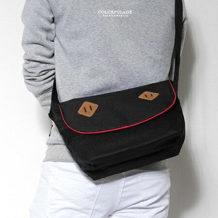 側背包 潮流多色豬鼻子造型尼龍斜背包 郵差包 實用百搭 硬挺質感 柒彩年代【NZ458】單個售價